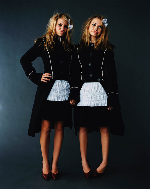 Actresses Ashley and Mary-Kate Olsen